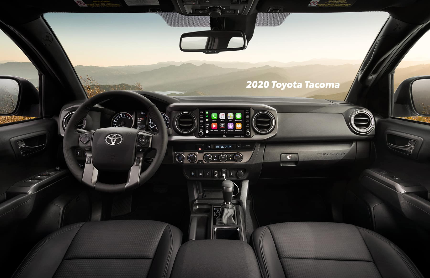 Comparison of the Toyota Tacoma vs. Tundra trucks at Lancaster Toyota of East Petersburg | The interior of the 2020 Toyota Tacoma