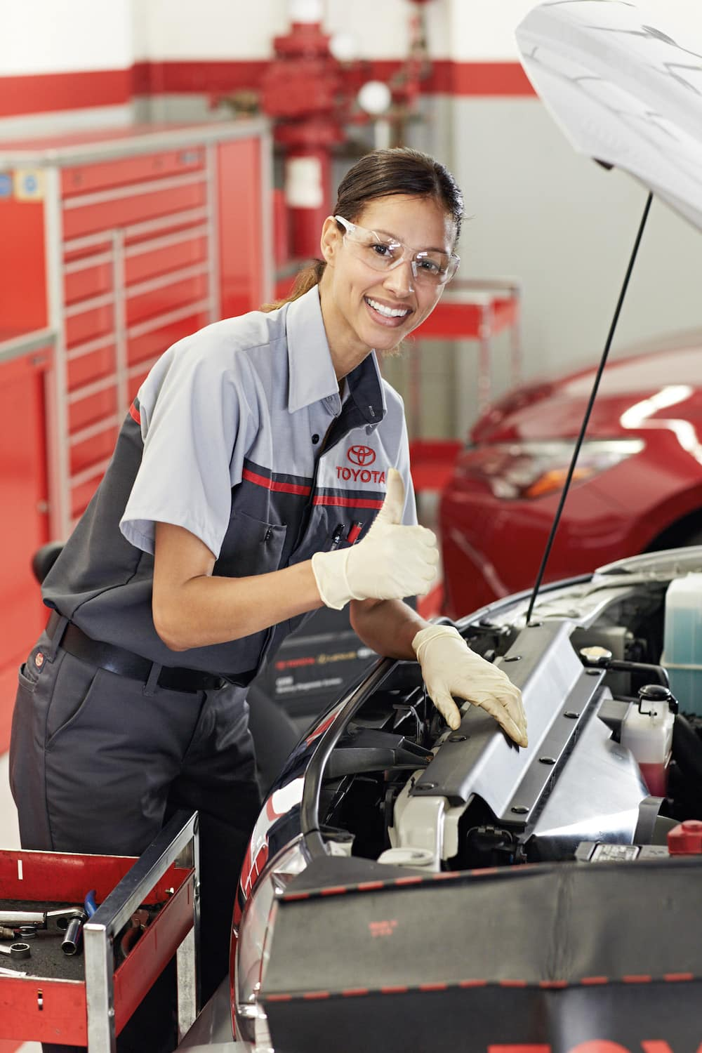 3 Main Benefits of Using OEM parts for your vehicle at Lancaster Toyota of East Petersburg | Toyota technicians smiling