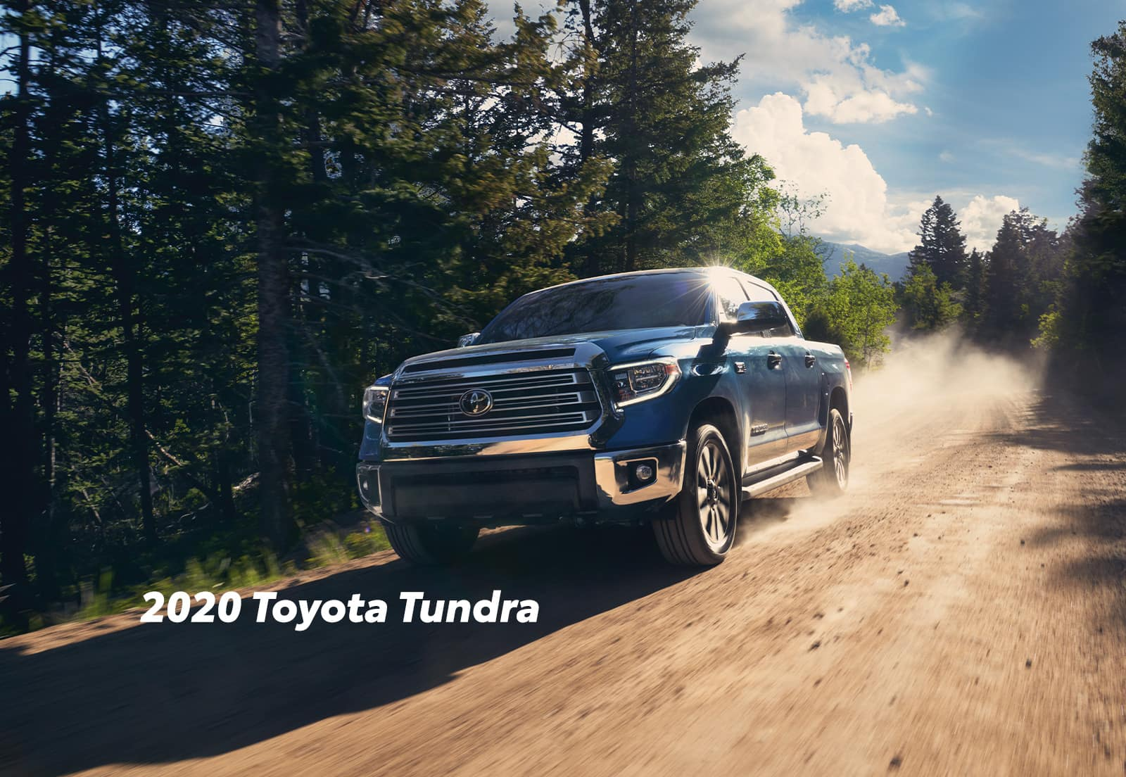 Comparison of the Toyota Tacoma vs. Tundra trucks at Lancaster Toyota of East Petersburg | 2020 Toyota Tundra running on dirt road