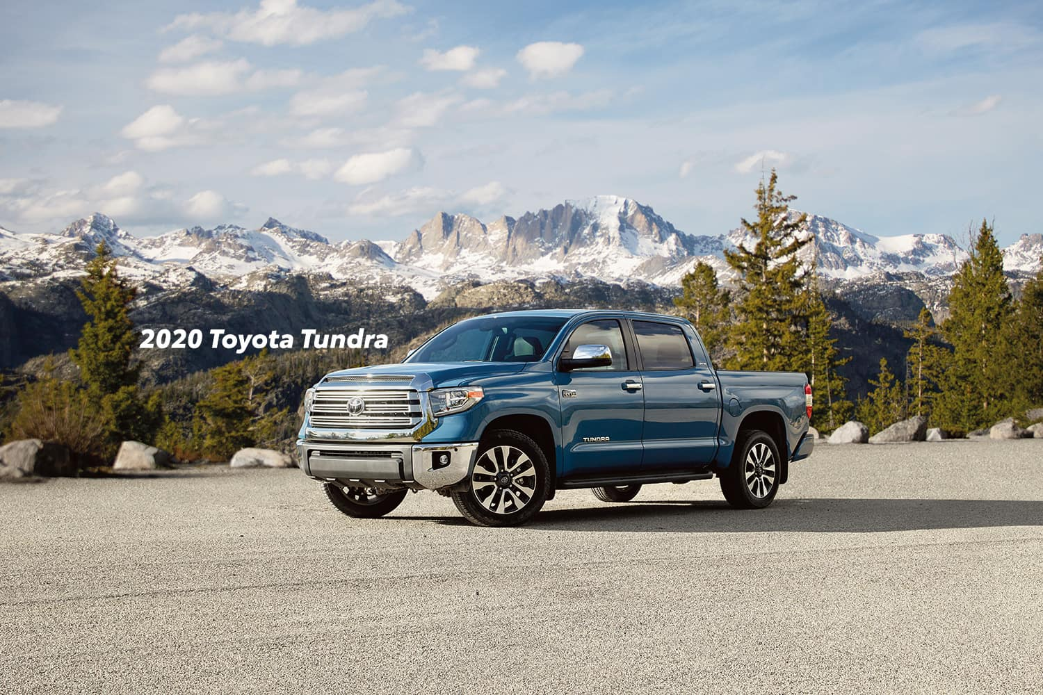 Comparison of the Toyota Tacoma vs. Tundra trucks at Lancaster Toyota of East Petersburg | Blue 2020 Toyota Tundra parked in a parking lot