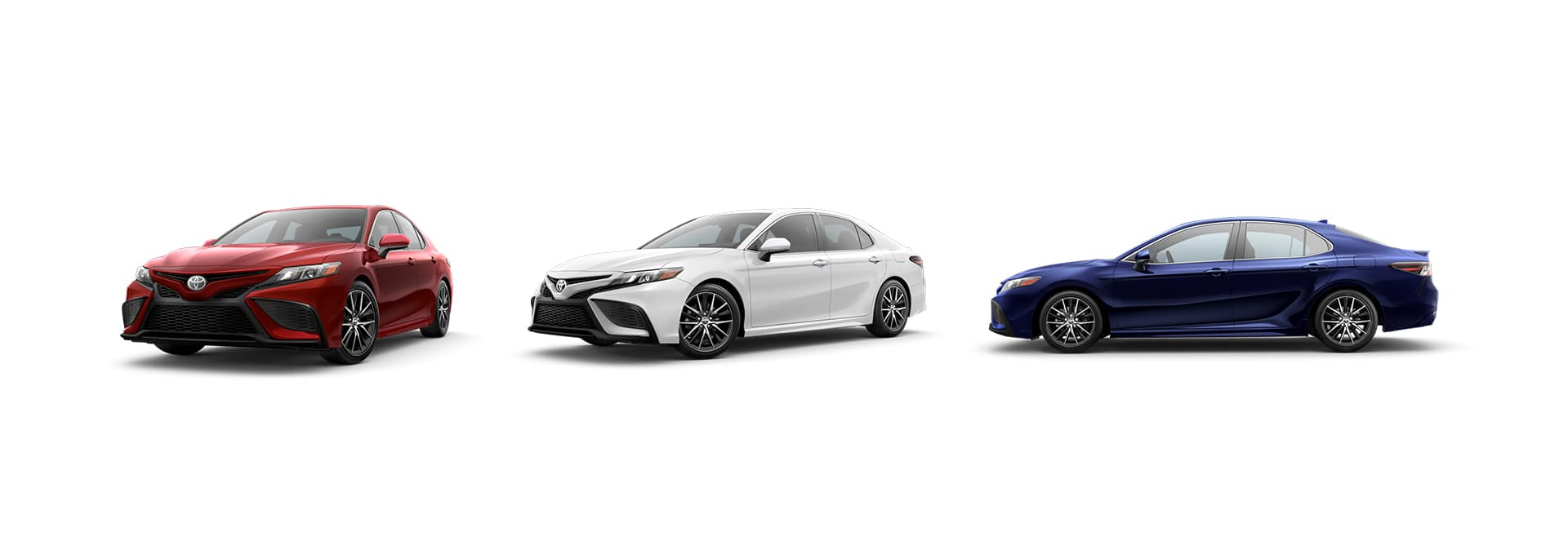 2021 Toyota Camry versus 2021 Honda Accord Comparison at Lancaster Toyota in East Petersburg | 2021 Toyota Camry in 7/8, 3/4, and profile view