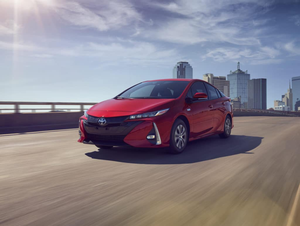 Lancaster Toyota is a Car Dealership in Lancaster near Elwyn Terrace, PA   2021 Toyota Corolla Hybrid driving out of city