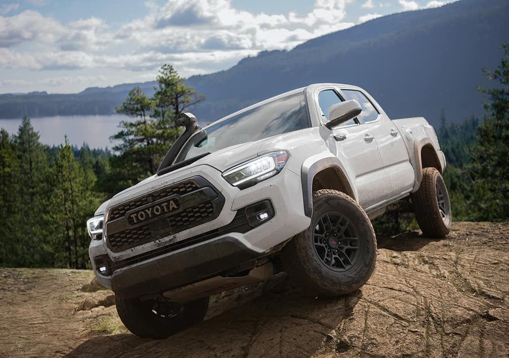 Model Features of the 2020 Toyota Tacoma at Lancaster Toyota in East Petersburg | 2020 tacoma on top of a hill