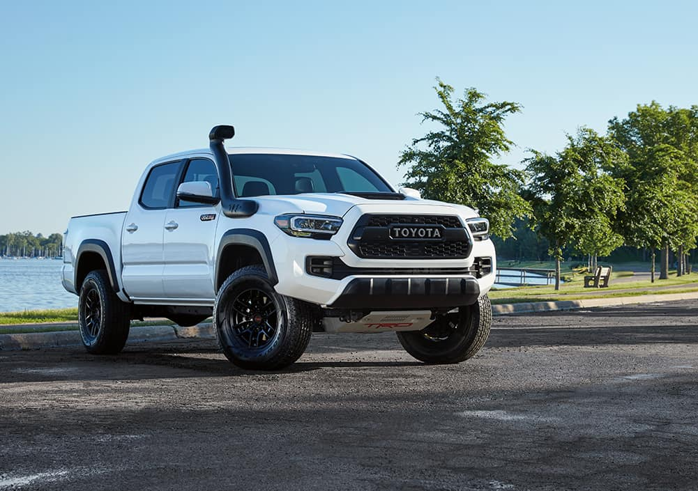 What you can get to personalize your vehicle at Lancaster Toyota in East Petersburg, PA | Custom Toyota Tacoma with lifted suspension and other modifications