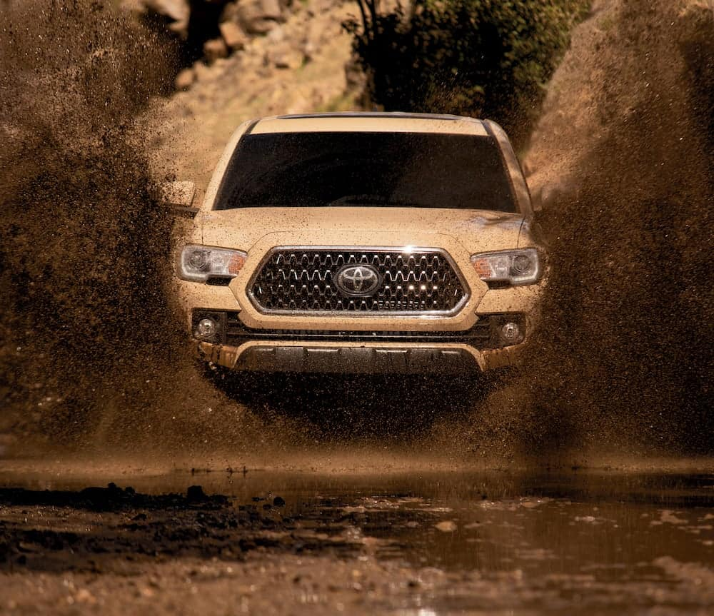 what different tire options are available at Lancaster Toyota | 2019 tacoma in mud