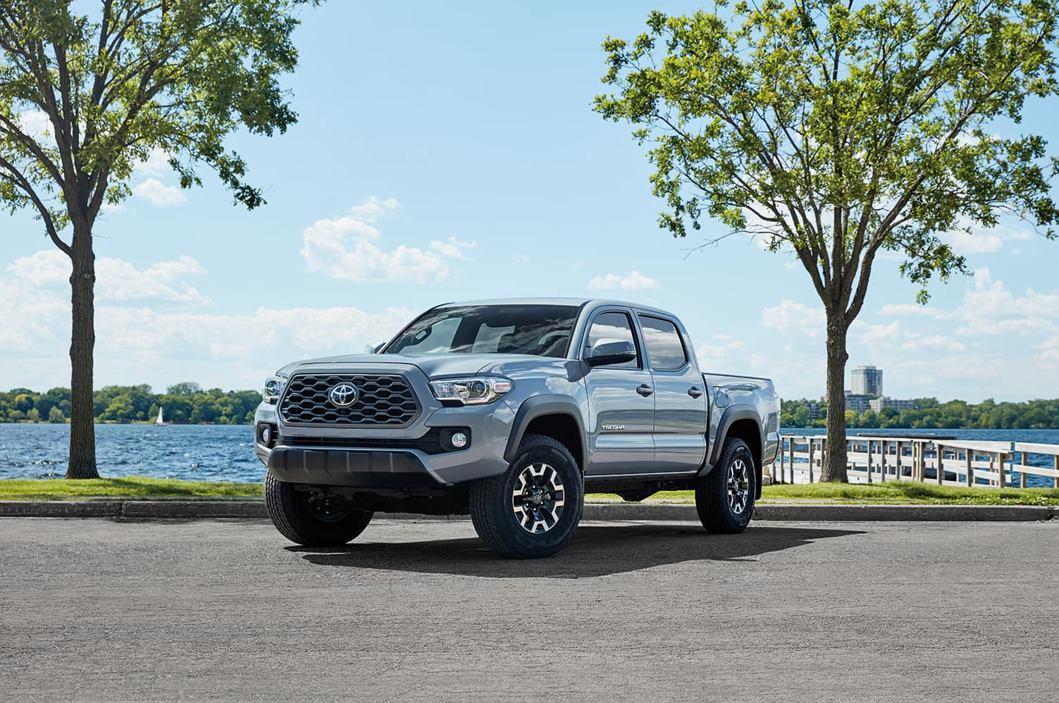 Lancaster Toyota is a Toyota Dealership in Lancaster near Salunga-Landisville PA | 2020 Toyota Tacoma parked next to lake