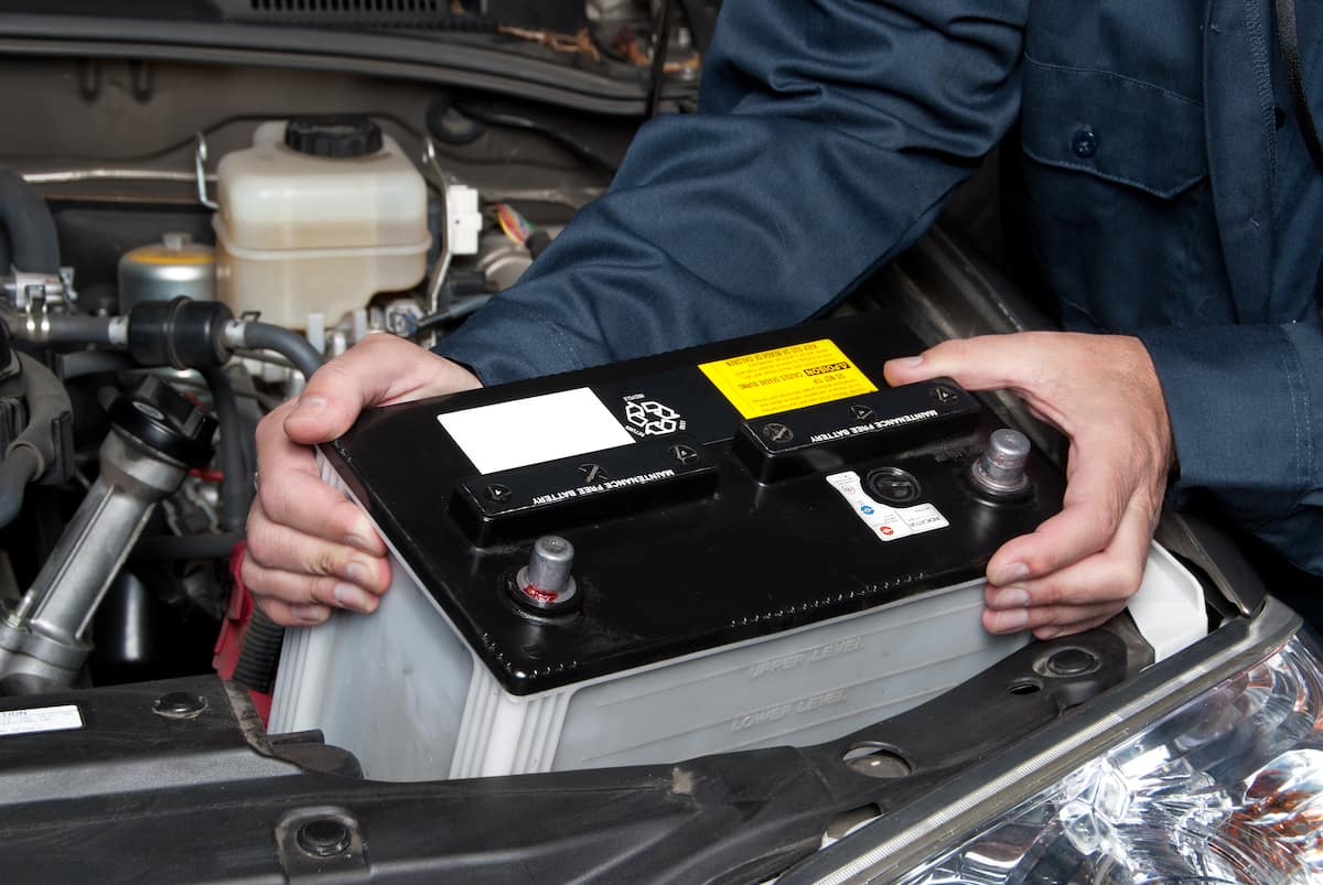Lancaster Toyota is a Car Dealership in Lancaster near Willow Street PA | Mechanic replacing battery in Toyota vehicle