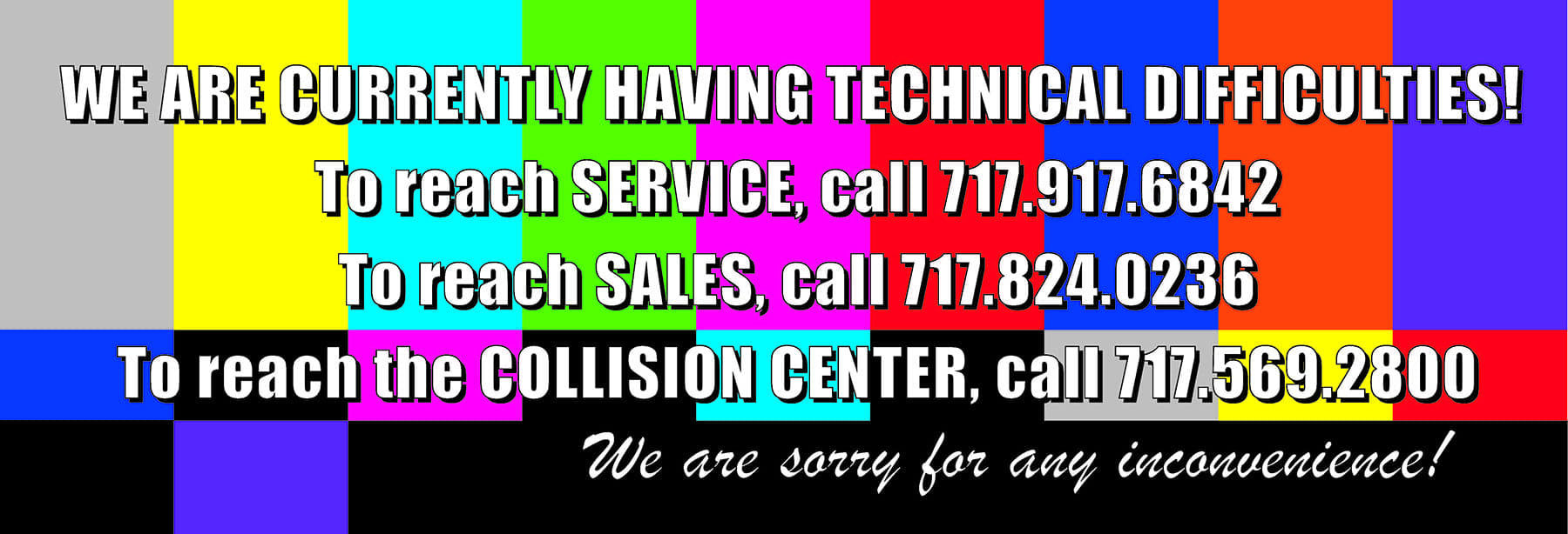Technical Issue Banner