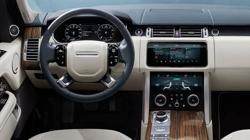 2019 Range Rover front interior features