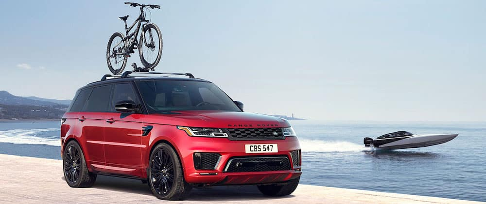 2019 Range Rover Sport Red with Bike Rack
