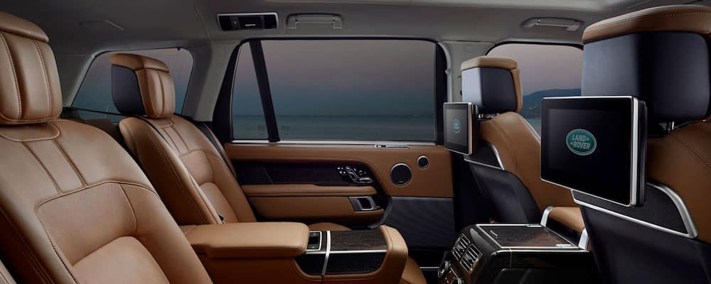 Tan leather Range Rover interior