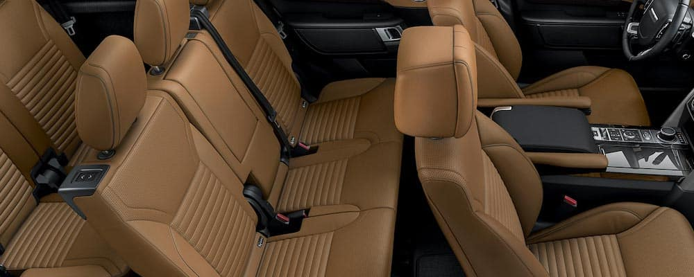 2019 Land Rover Discovery Interior with tan leather seats