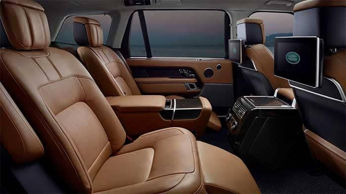2019 Land Rover Range Rover Rear Seating with Entertainment System
