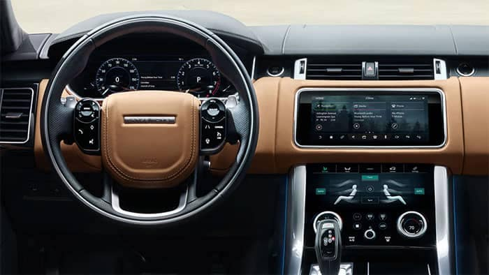 2020 Range Rover Sport Interior Dashboard and Steering Wheel