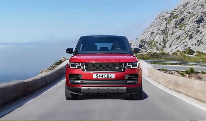2020 Land Rover Range Rover Driving Front End View