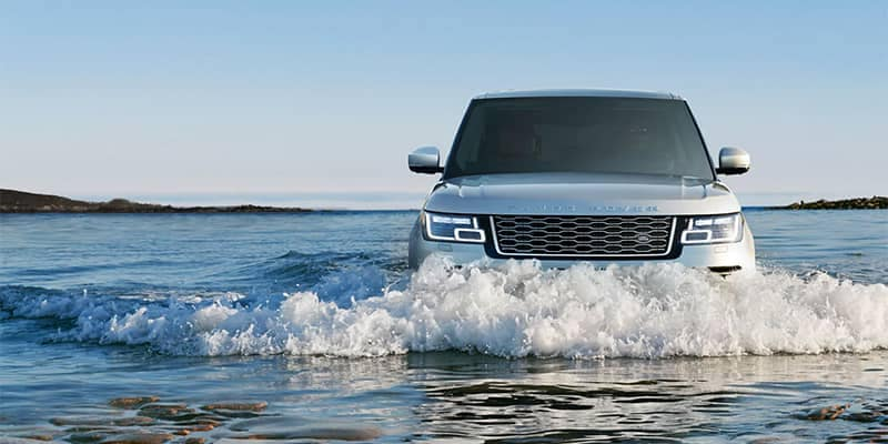 Range Rover Wading in Water