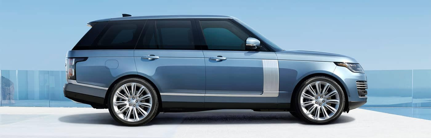 Range Rover Parked Side Profile View