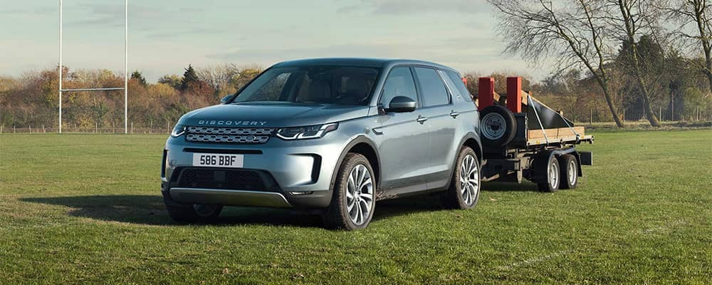Land Rover Discovery Sport Towing a Small Trailer