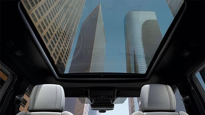 Land Rover Range Rover Evoque Interior Panoramic Roof View