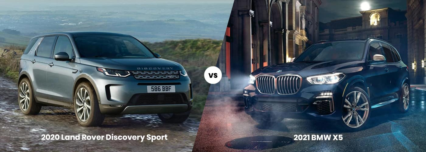 2020 Land Rover Discovery Sport vs. 2021 BMW X5 banner