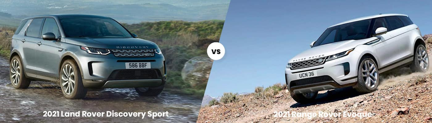 2021 Land Rover Discovery Sport vs 2021 Range Rover Evoque