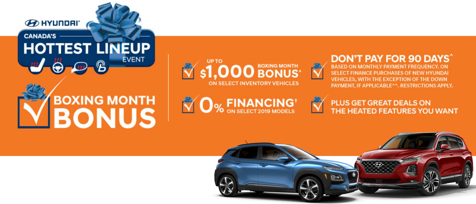 Hyundai Boxing Month Bonus