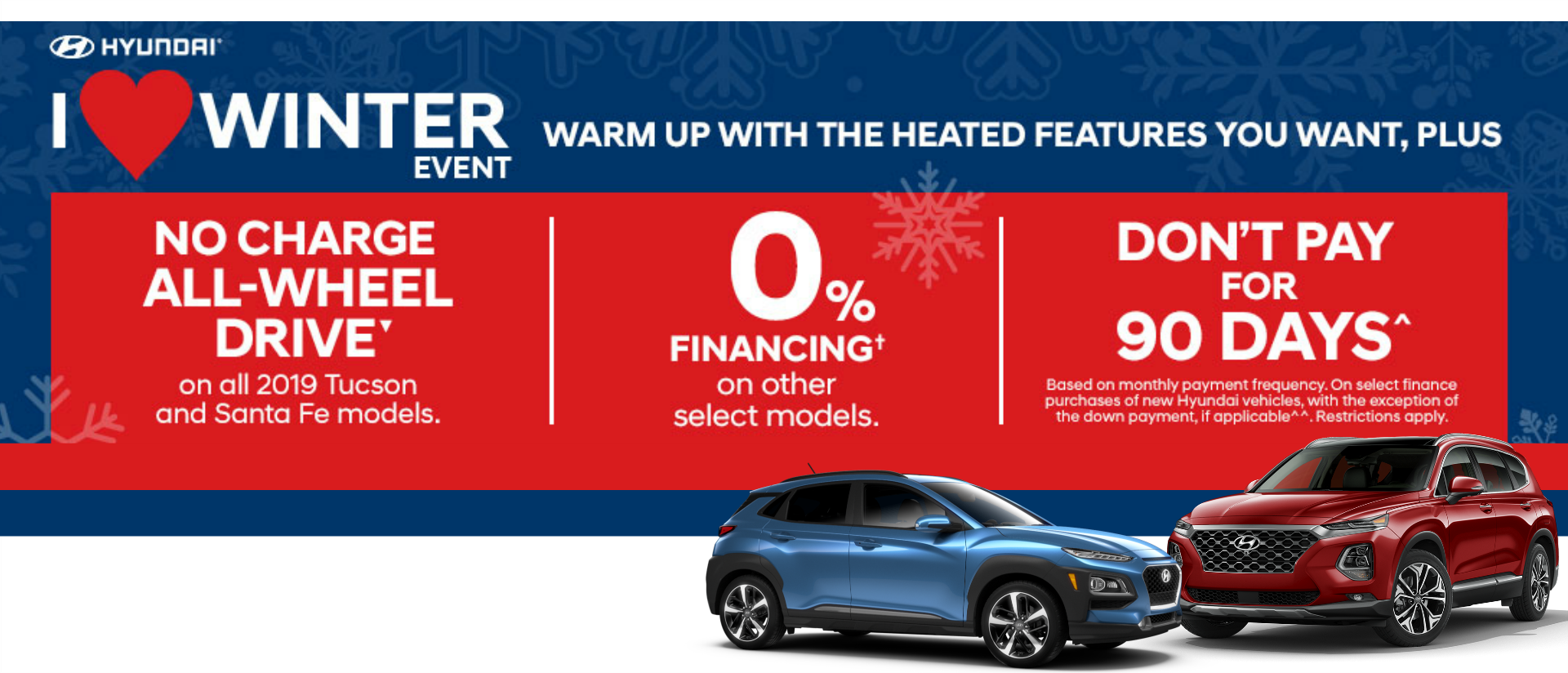 I Love Winter January Sale at Lauria Hyundai
