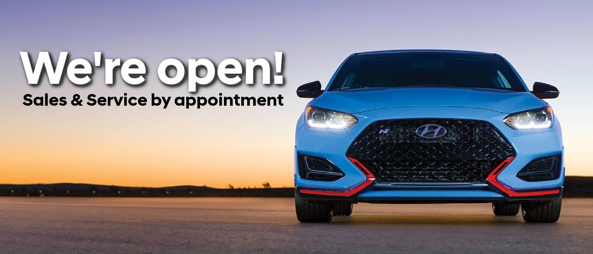 We're open Hyundai2