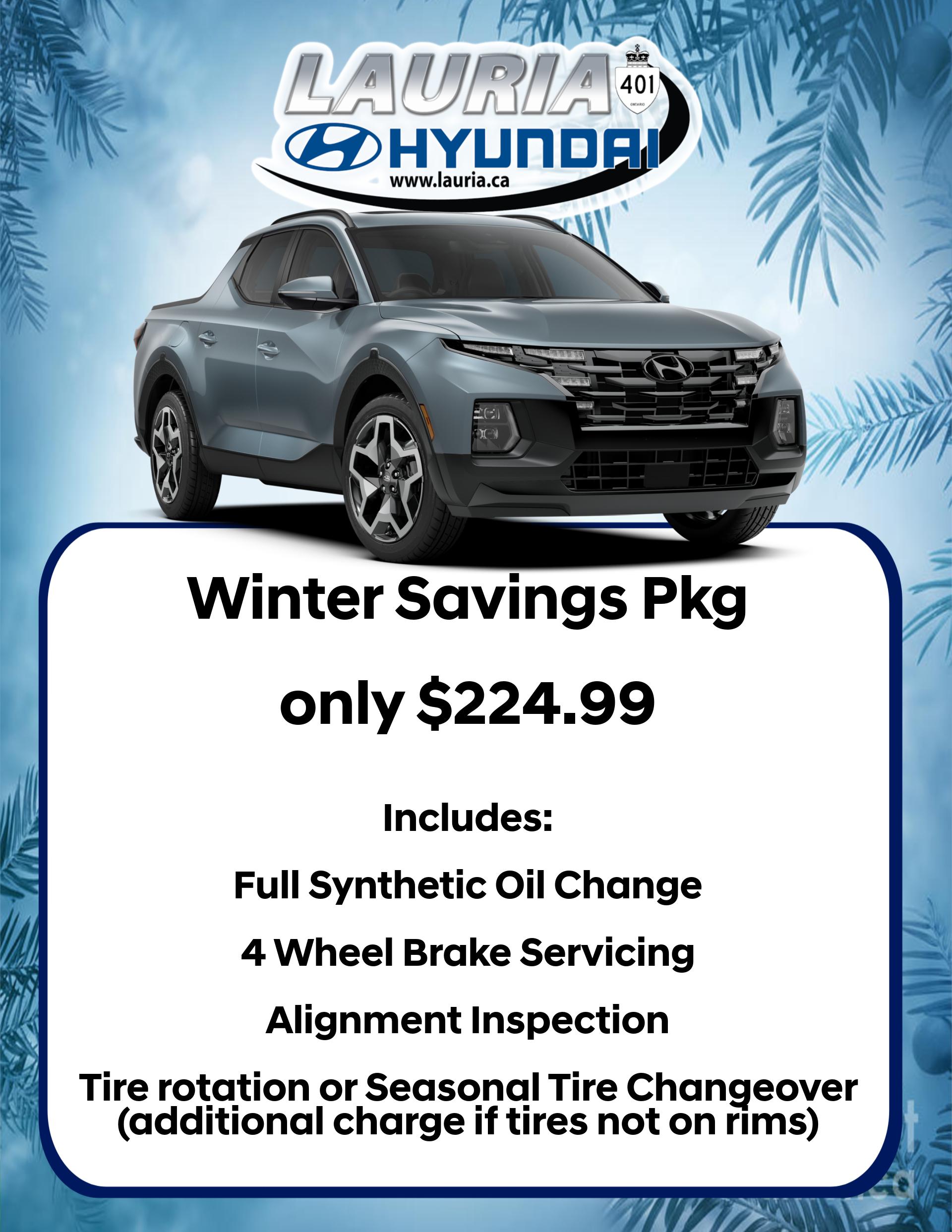 Winter Savings Package Details