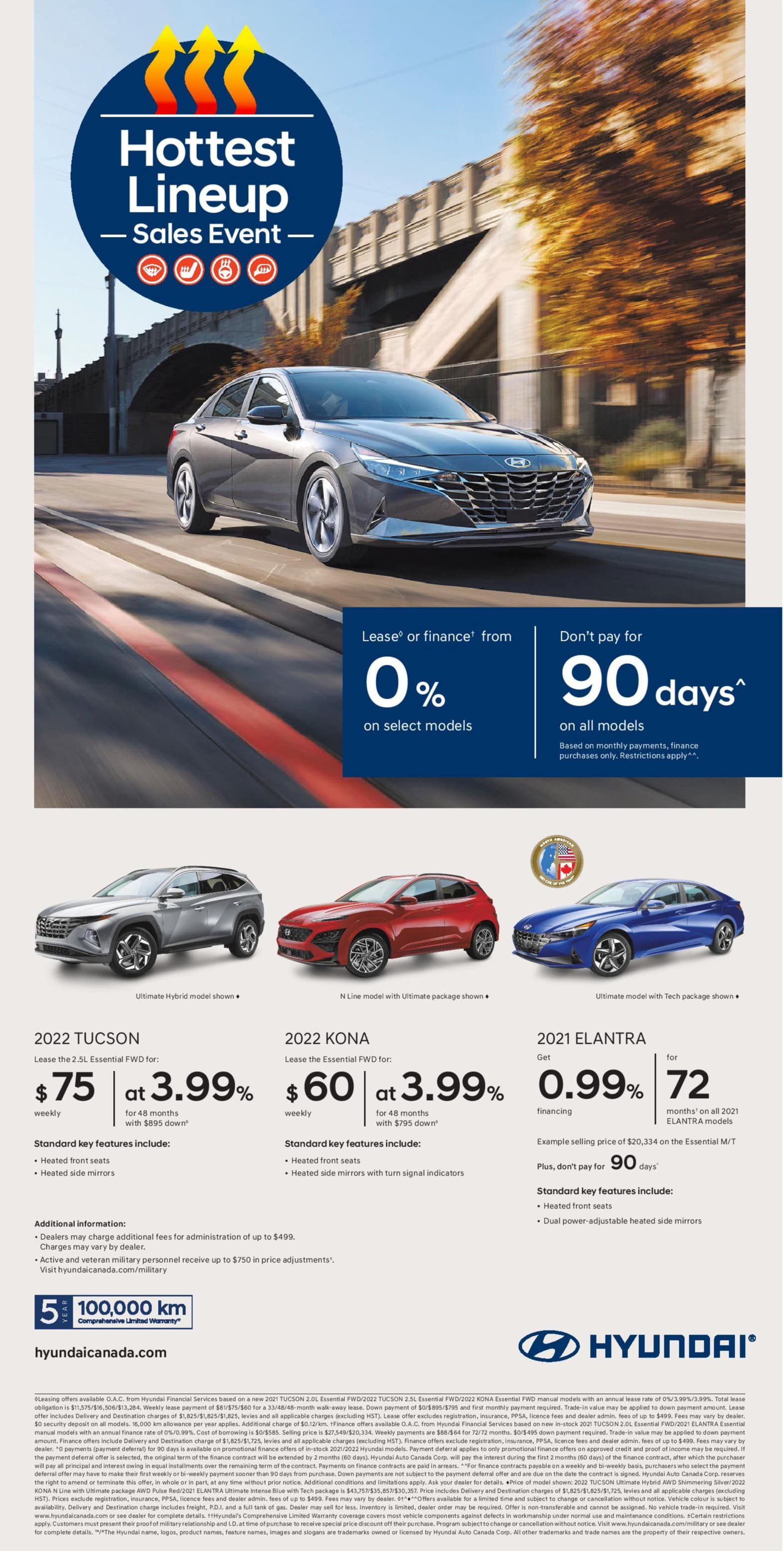 Hyundai Hottest Lineup Sales Event