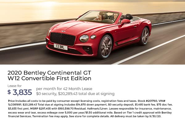2020 Bentley Continental GT W12 Convertible First Edition