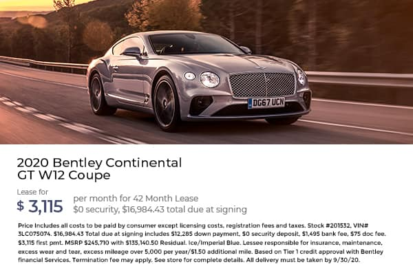 2020 Bentley Continental GT W12 Coupe
