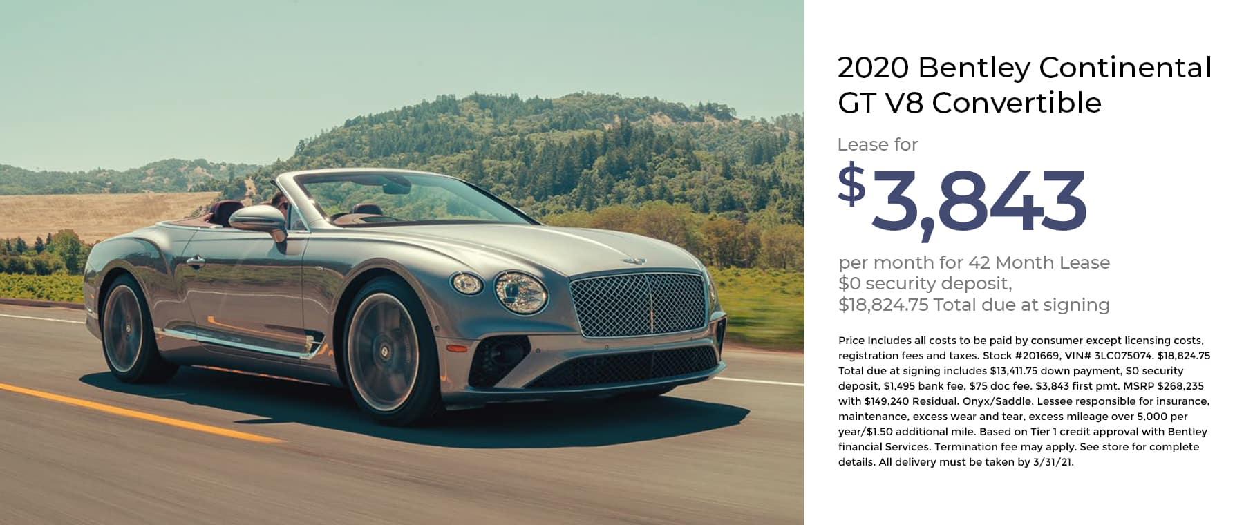Bentley Continental GT V8 Convertible 1800×760 January 2021