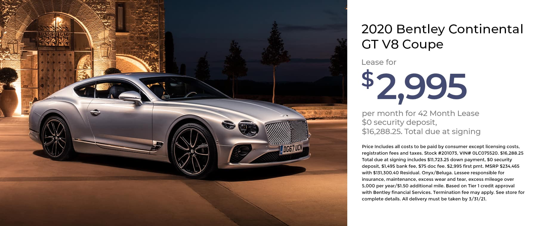 Bentley Continental GT V8 Coupe1800x760 January 2021