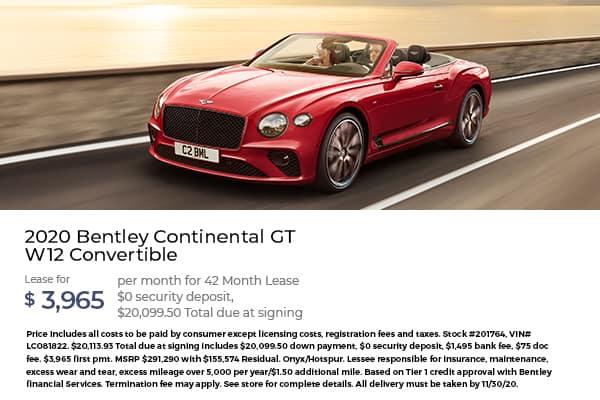 2020 Bentley Continental GT W12 Convertible