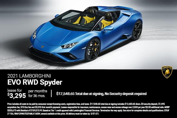 2021 Lamborghini EVO RWD Spyder