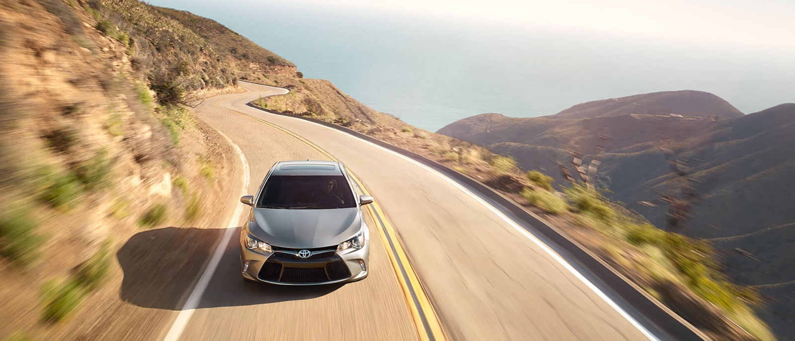 2017 Toyota Camry on the road