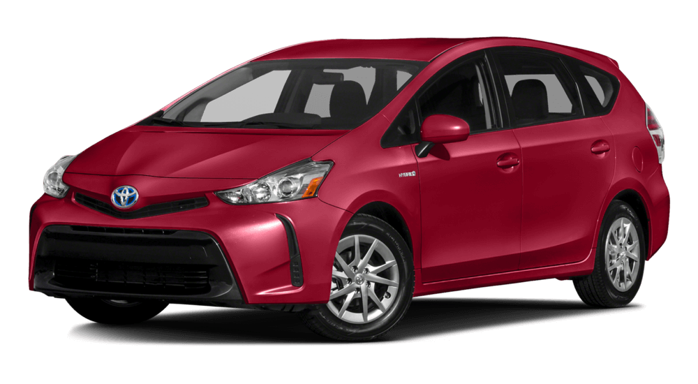 2017 Toyota Prius V red exterior model
