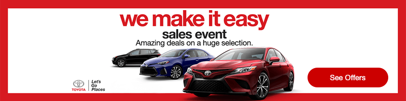We Make it Easy to Get Into a New Toyota