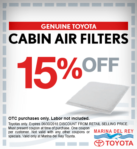 Cabin Air Filters 15% Off