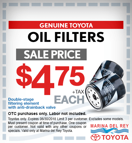 Toyota Oil Filters $4.75 + tax each