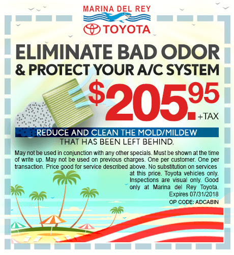 Eliminate Bad Odor & Protect Your A/C System $205.95 + tax