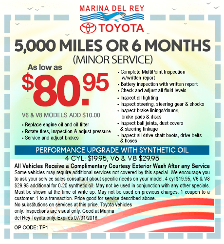 5,000 Miles or 6 Months Minor Service