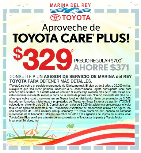 Aproveche de Toyota Care Plus $329