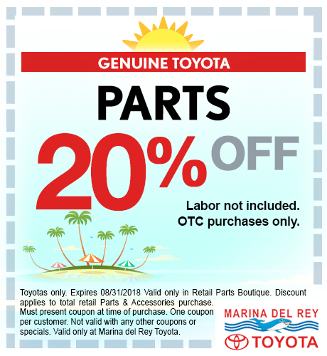 Toyota Parts 20% Off