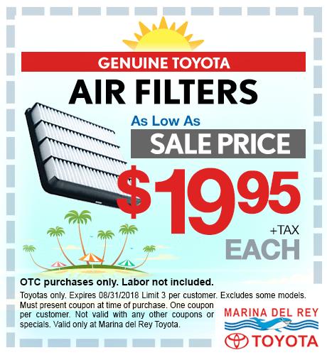 Air Filters $19.95 + tax each