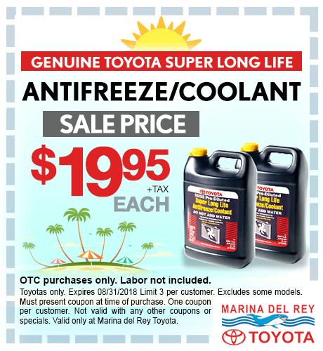Antifreeze/Coolant $19.95 + tax each