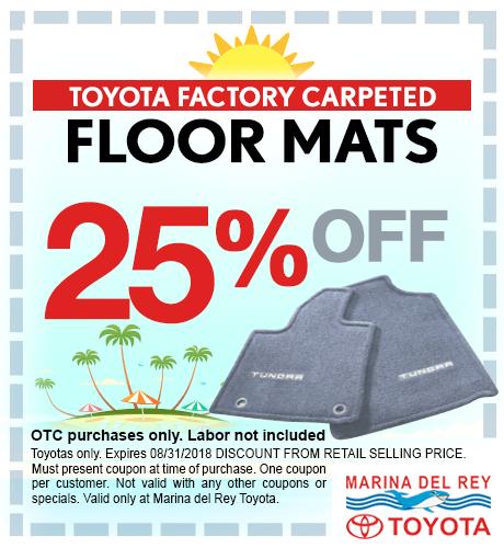 Toyota Floor Mats 15% Off
