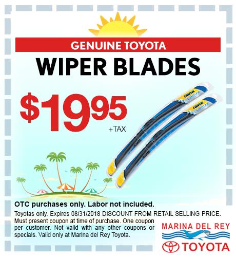 Wiper Blades $19.95 + tax each