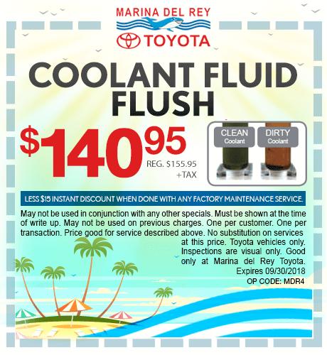 Coolant Fluid Flush $140.95 + tax
